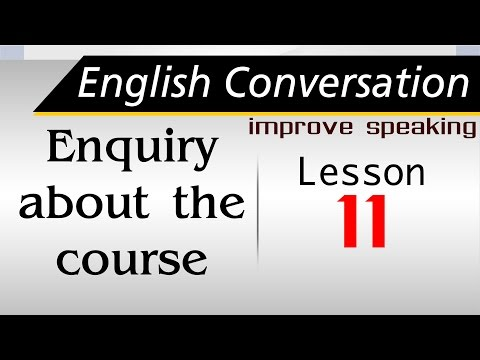 Free English class| Learning Conversation |English speaking| Enquiry about the course 011