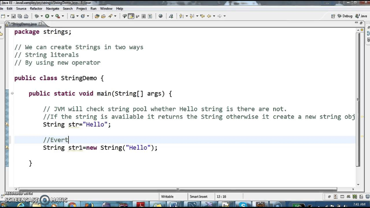 How to create Strings in java and different ways to create strings? - YouTube