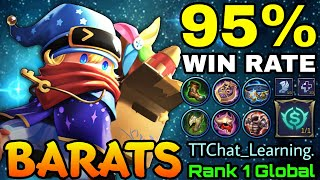 Download Mp3 95 Win Rate Barats with Tanky Build Top 1 Global Barats by TTChat Learning MLBB