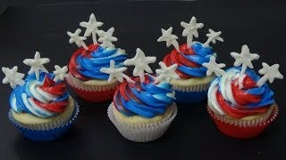Easy Cupcakes For Independence Day