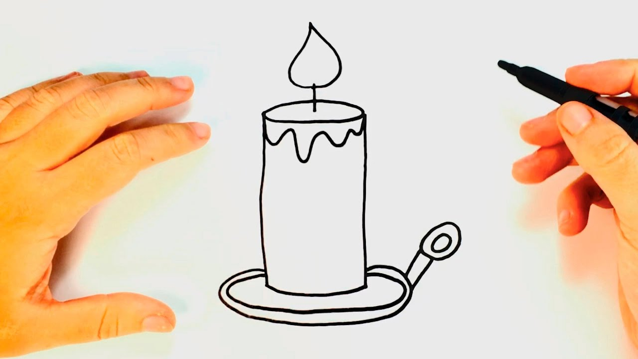 It's just a graphic of Canny Drawing Of A Candle
