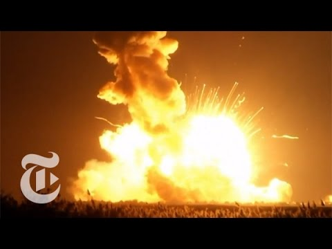 NASA Rocket Explodes on Launch | The New York Times