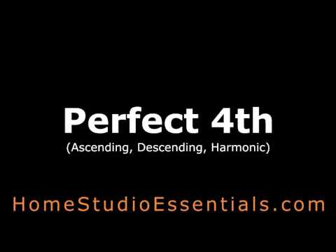 Interval Ear Training: Perfect Fourth (Ascending, Descending, Harmonic)