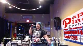 Amanda   Black Velvet Alannah Myles Papa's Place #Cabot #Arkansas #Karaoke by KeysDAN com