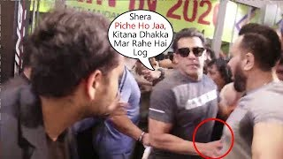 Salman Khan Gets ANGRY And Pushes His Bodyguard Shera At Being Human Gym Equipment Launch