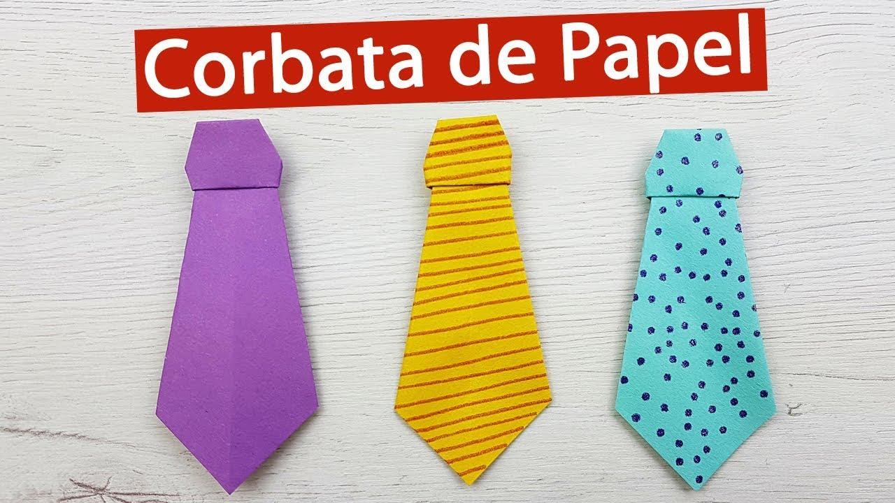 👔 Cómo hacer una corbata de papel para el día del Padre (Origami ...