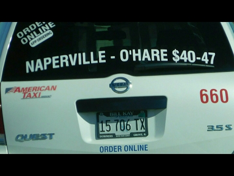 AMERICAN TAXI RECKLESS DRIVER AT OHARE AIRPORT