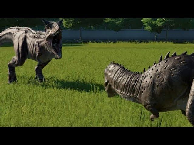 Carnotaurus VS Majungasaurus - Jurassic World Evolution