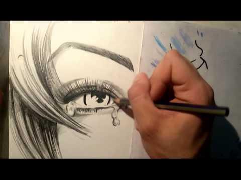 Dibujo Ojos Llorando Dibujando Y Pintando Ojos Llorando Youtube