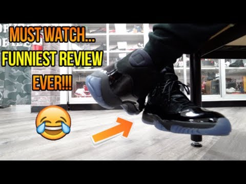 2018 AIR JORDAN 11  CAP AND GOWN PROM NIGHT  REVIEW + ON FEET ... 7dceb8ed64f