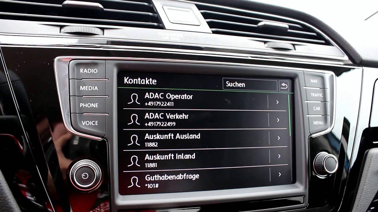 03 VW Touran - Infotainmentsystem - Das Telefon - YouTube