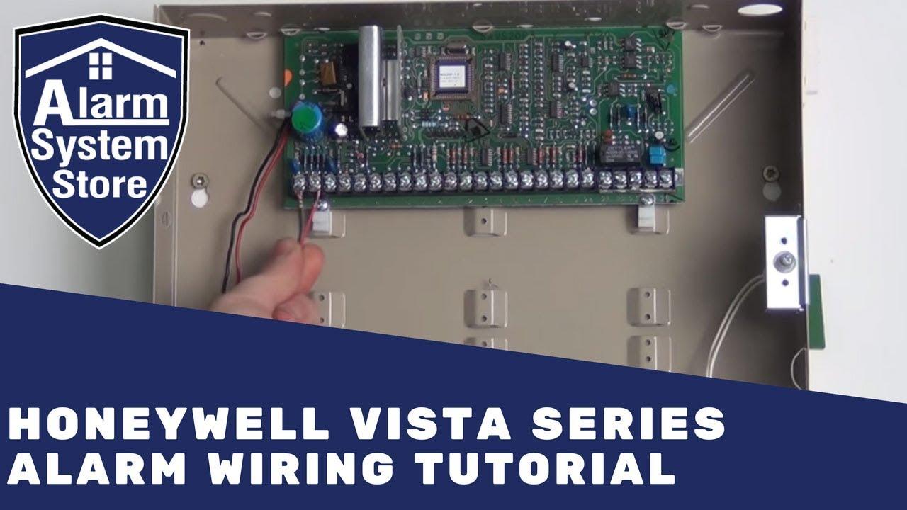 honeywell vista series wiring alarm system store youtube