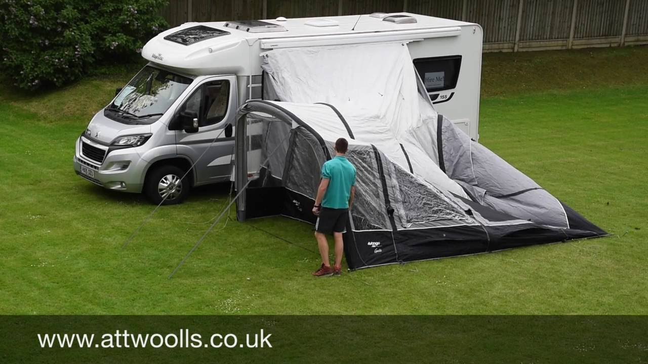 Vango Galli Awning Pitching Amp Packing Video Real Time