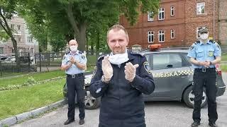 Wyzwanie #GaszynChallenge podjęte przez strażników miejskich w Działdowie