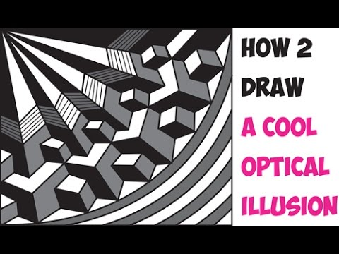 how to draw cool 3d optical illusions drawing trick easy step by step drawing tutorial for. Black Bedroom Furniture Sets. Home Design Ideas