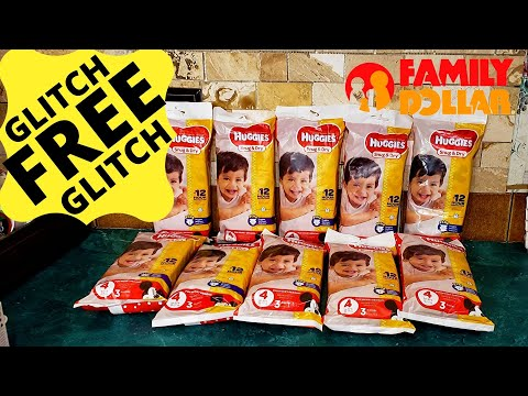 #FAMILYDOLLAR Family Dollar GLITCH// FREE HUGGIES WITH DIGITAL COUPON// 3ct Huggies FREE// RUN DEAL