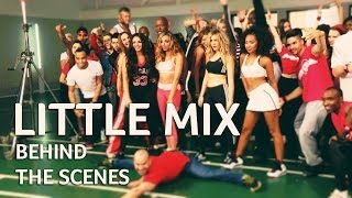 Little Mix behind the scenes of Word Up