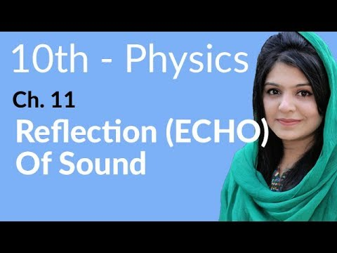 10th Class Physics Ch 11,Reflection (ECHO) of Sound-10th Physics book 2 Chapter 11