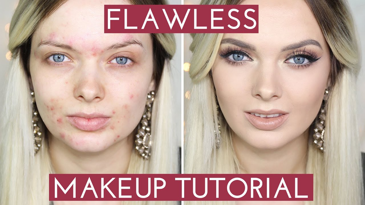 ACNE COVERAGE// Flawless Foundation Makeup Tutorial // MyPaleSkin ...