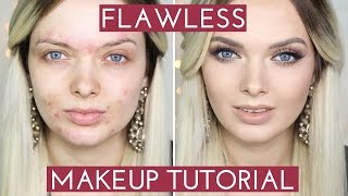 One of My Pale Skin's most viewed videos: ACNE COVERAGE// Flawless Foundation Makeup Tutorial //  MyPaleSkin