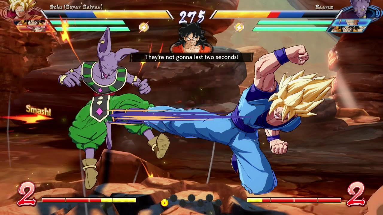 Dragon Ball Fighterz Online J Aerial Goku Yamcha Goku Black