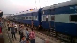 The entry of first ever Sichar to Lumding Broad Guage Train
