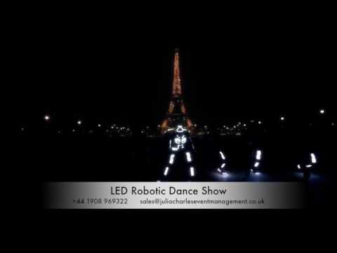 LED Robotic Dance Show for Hire – LED Dancers - Slovakia