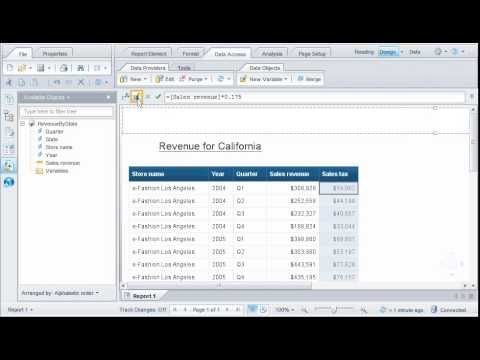 Create a variable based on a formula: SAP BusinessObjects Web Intelligence 4.0