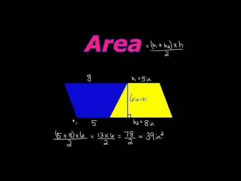 HOW TO FIND THE AREA OF A TRAPEZOID: THE EASY WAY!