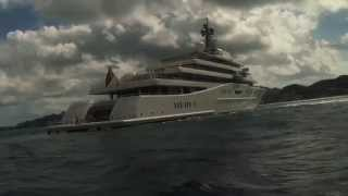 Worlds largest mega yacht Eclipse caught on video in the Caribbean