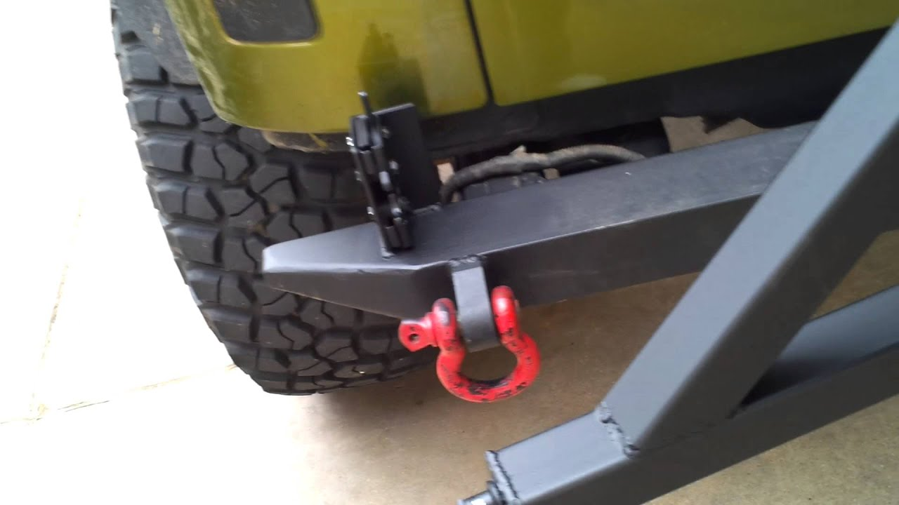 Homemade Tire Carrier Latch Operation Youtube