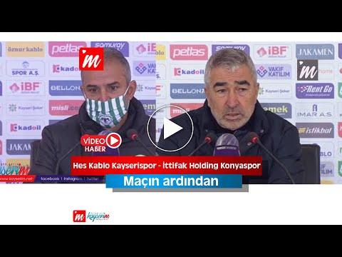Hes Kablo Kayserispor - İttifak Holding Konyaspor maçının ardından