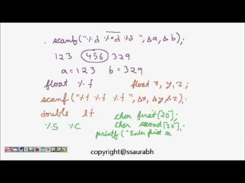 C Programming Tutorial: Input Output (printf, scanf, format specifiers) Lesson 1