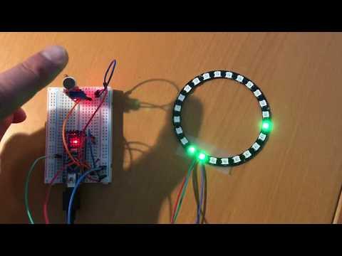 Arduino VU meter test with microphone input
