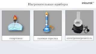Химия (8 класс) - Приёмы обращения с лабораторным оборудованием. Наблюдение за горящей свечой...