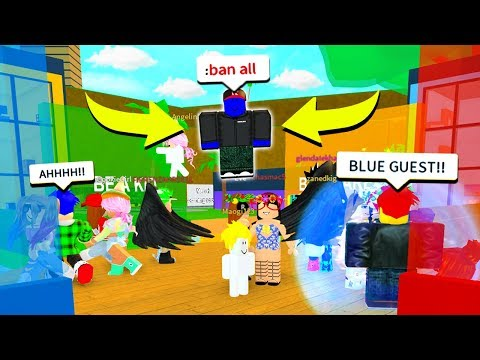 USING ADMIN COMMANDS TO BECOME BLUE GUEST!! (Roblox)