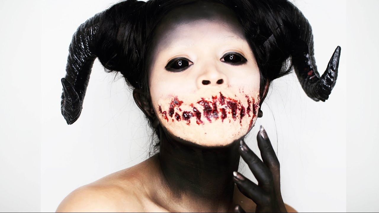 SCARY DEMON Makeup | Halloween 2016 - YouTube  Demon Halloween Makeup