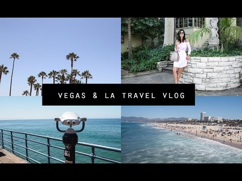 USA VLOG - Vegas & LA: Driving a Convertible Mustang & Exploring Santa Monica Pier | Mademoiselle