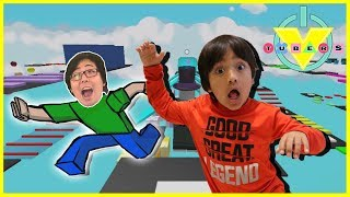 VTubers Roblox MEGA FUN OBBY Parkour Style Let's Play with Ryan Vs. Daddy