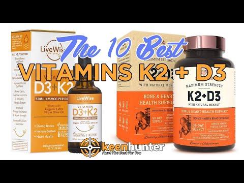 Vitamins K2 + D3: Top 10 Best Vitamins K2 + D3 Video Reviews (2020 NEWEST)