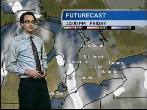 Weather Demo @ CTV News Kitchener - January 2015