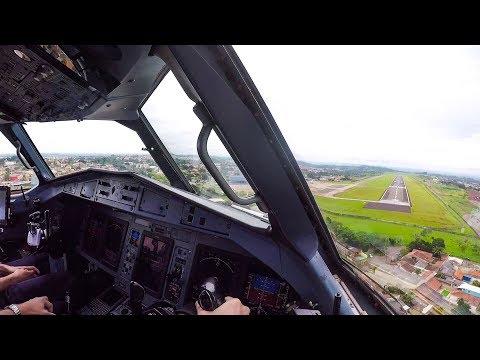 VERY SMOOTH Cockpit Landing - ATR 72-600