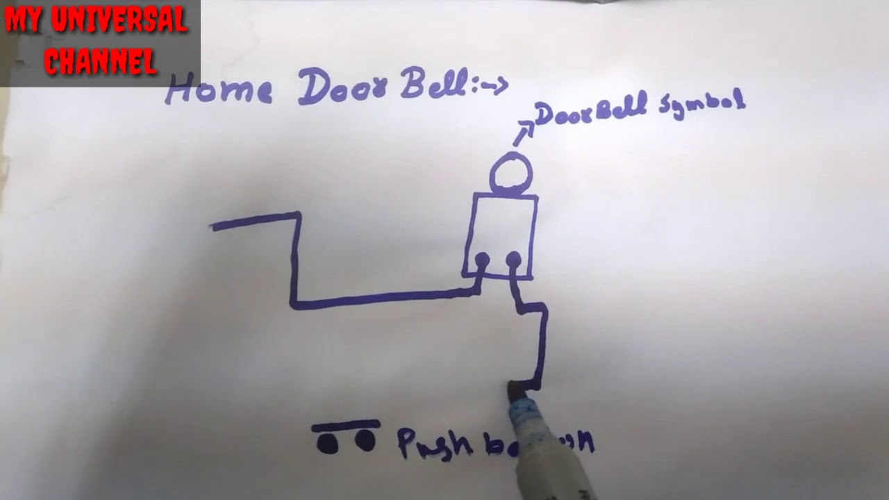 home door bell wiring diagram connection phase and neutral [ 1280 x 720 Pixel ]