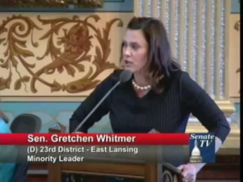Senator Gretchen Whitmer Speaks About Domestic Partner Benefits