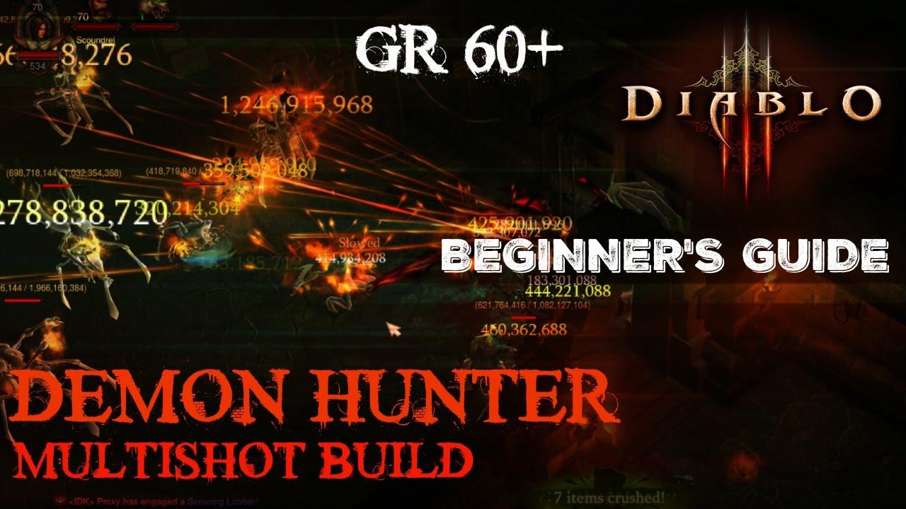 Diablo 3 Beta Patch 13 Demon Hunter Gameplay with Runes