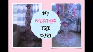 DIY EASY AND ELEGANT CHRISTMAS TREE SKIRT, EASY SEWING PROJECT FOR BEGINNERS