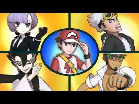 Pokemon Ultra Sun & Ultra Moon - All Battle Tree Special Trainers