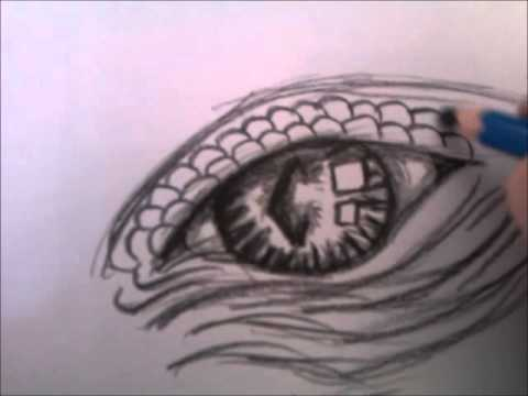 Drawing Dragon Eyes Step By Step
