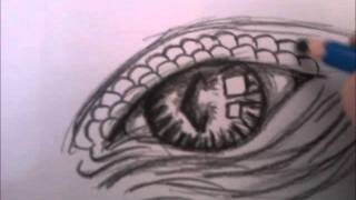 how to draw dragons eye