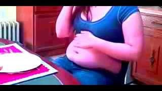 Repeat youtube video My hot girlfriend stuffing her chubby fat belly